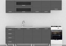 Kuchyňská linka REA ALFA ZZ č.1 250 cm, GRAPHITE