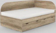Dětská postel REA GARY 120x200 s úložným prostorem, pravá, DUB CANYON