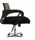 Kancelářská židle IMELA TYP 2, zelená/černá/chrom