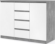Komoda Simplicity 236 beton/bílý lesk