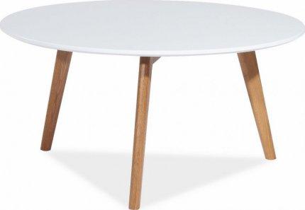 Konferenční stolek MILAN L1 bílá/dub