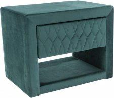 Čalouněný noční stolek AZURRO VELVET zelená