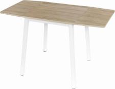 Rozkládací jídelní stůl, MAURO, bílá/dub sonoma