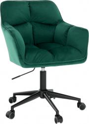 Designové kancelářské křeslo HAGRID, smaragdová/černá