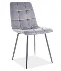 Jídelní židle MILA velvet šedá/černý kov