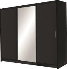 Šatní skříň MONZA černá