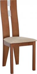 Dřevěná jídelní židle BONA, béžová látka/třešeň
