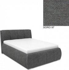 Čalouněná postel AVA EAMON UP 160x200, s úložným prostorem, SORO 97