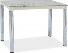Jídelní stůl DAMAR II krémová-chrom