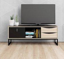 TV stolek Sheba černý MAT/sonoma