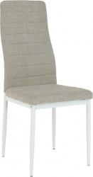 Jídelní židle COLETA NOVA béžová látka/bílý kov