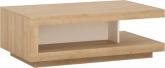 Konferenční stolek LEONARDO LYOT01, dub riviera/ bílá lesk