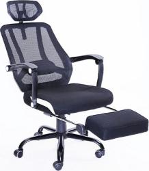 Kancelářská židle SIDRO s podnoží, černá síťka/černá