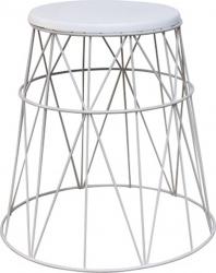 Kulatý odkládací stolek LAVON, bílá