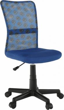 Dětská židle GOFY, modrá/vzor/černá