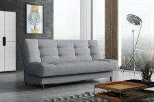 Rozkládací pohovka Living, s úložným prostorem, světle šedá