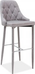 Barová čalouněná židle TRIX H-1 šedá