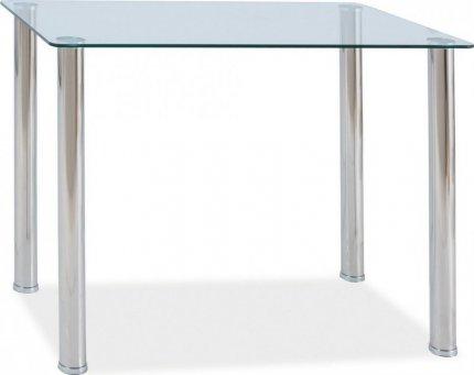 Jídelní stůl TED, sklo/chrom