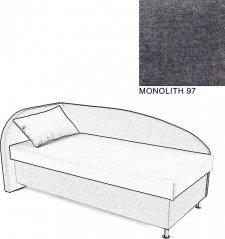 Čalouněná postel AVA NAVI, s úložným prostorem, 120x200, levá, MONOLITH 97