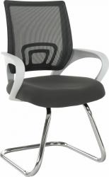 Konferenční židle SANAZ TYP 3 šedá/bílá