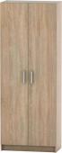 Šatní skříň BETTY 7, 2-dveřová, dub sonoma, BE07-004-00
