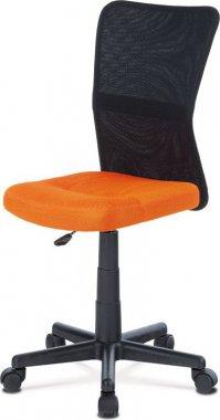 Dětská židle KA-2325 ORA, oranžová mesh, síťovina černá/černý plast