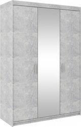 Šatní skříň Enja 3D se zrcadlem, beton
