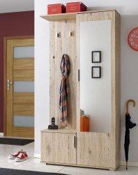 Předsíňová stěna CUBA ( věšák, botník, zrcadlo, skříň )