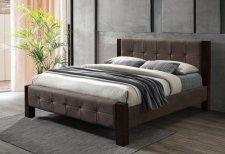 Čalouněná postel KARLSRUHE 180x200, tmavý ořech/hnědá