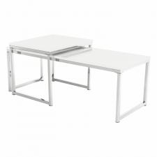 Konferenční stolek ENISA TYP 2, set 2 kusů, bílá lesk