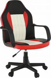 Kancelářská židle MALIK NEW, černá/červená/béžová