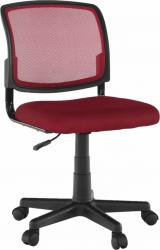 Dětská židle RAMIZA, tmavočervená/černá