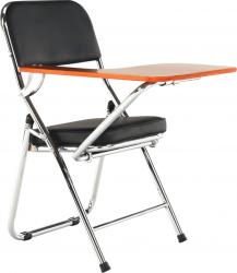 Židle TEKER s deskou na psaní, černá/přírodní