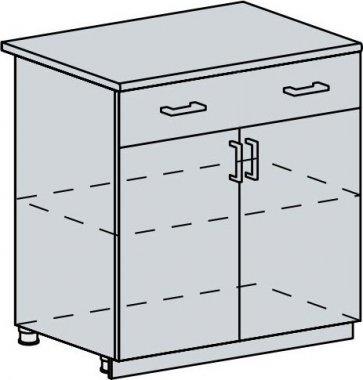 80D1S2 d. skříňka 2-dveřová se zásuvkou PROVENCE bílá