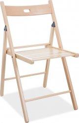 **Dřevěná skládací židle SMART II natural