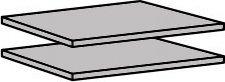 Police 918 ( 2 ks ) do skříně šířka 110 cm