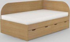 Dětská postel REA GARY 120x200 s úložným prostorem, pravá, BUK