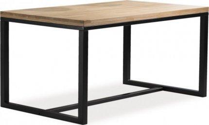Jídelní stůl LORAS A 180x90 dýha dub/černá