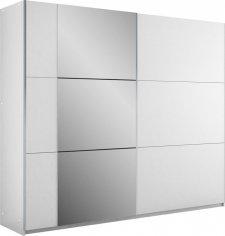 Šatní skříň BASTIA 250 bílá/bílá