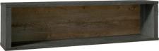 Závěsná police, dub lefkas tmavý/smooth šedý, MONTANA W1