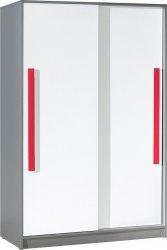 Šatní skříň GYT 13 antracit/bílá/červená