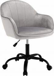 Designové kancelářské křeslo EROL, Velvet světle šedá/černá