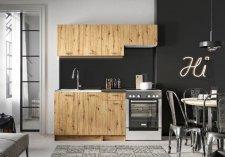Kuchyňská linka MELVIN 180 cm, dub artisan
