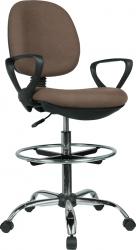 Pracovní židle TAMBER, hnědá/černá