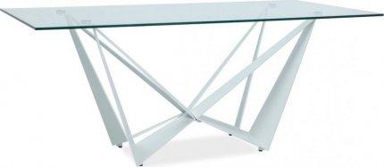 Jídelní stůl ASTON II bílá/sklo