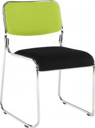 Konferenční židle BULUT stohovatelná, zelená/černá síťovina