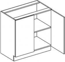 D80 dolní skříňka dvojdvéřová NORA de LUX hruška