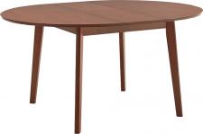 Rozkládací jídelní stůl ALTON, kulatý, buk merlot