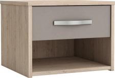 Noční stolek GRAPHIC dub arizona/šedá
