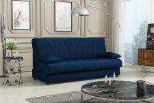 Rozkládací pohovka Chloe s úložným prostorem, modrá